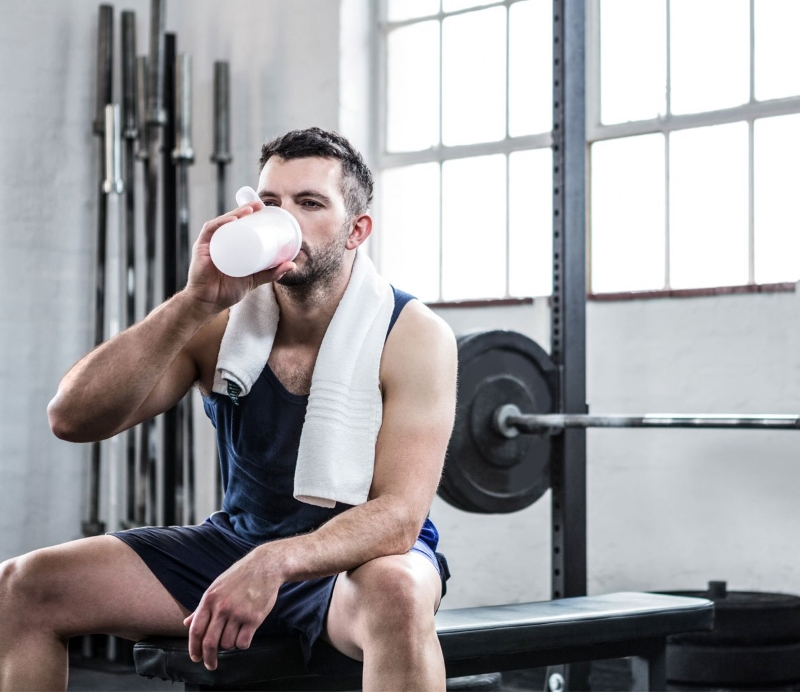 drink milk protein intake for muscle growth