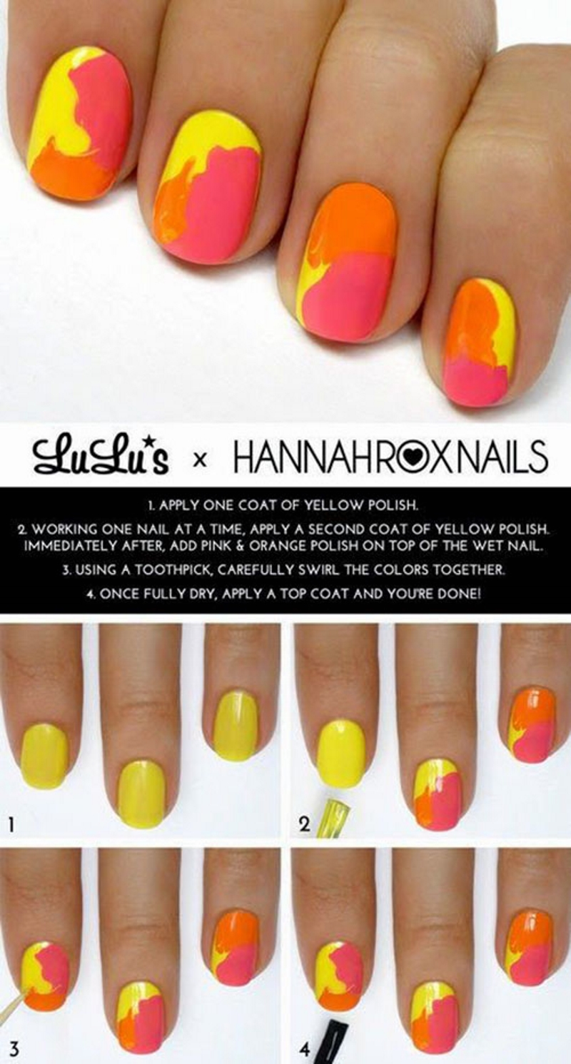 fire summer nail designs