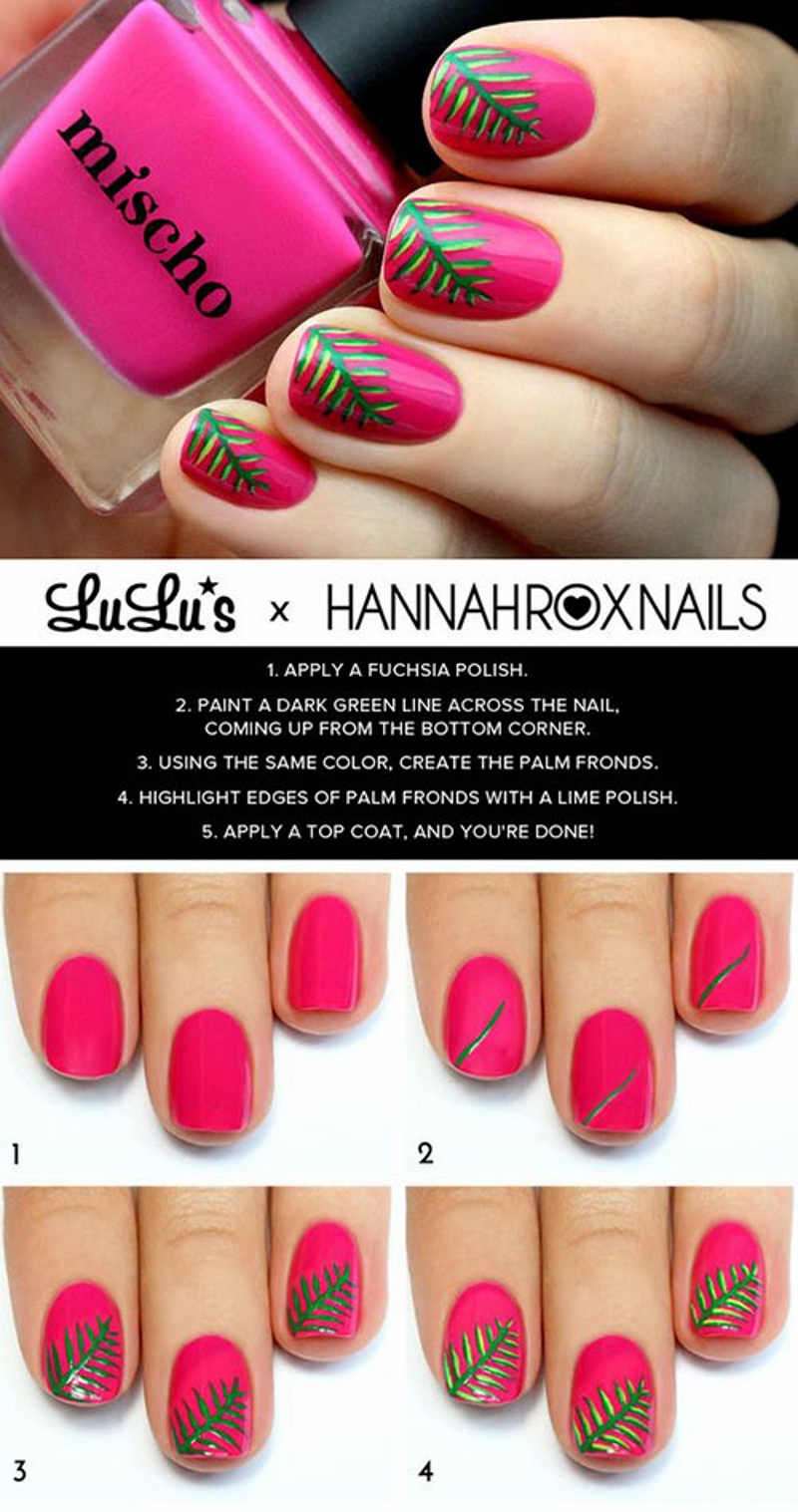 leaf summer nail designs