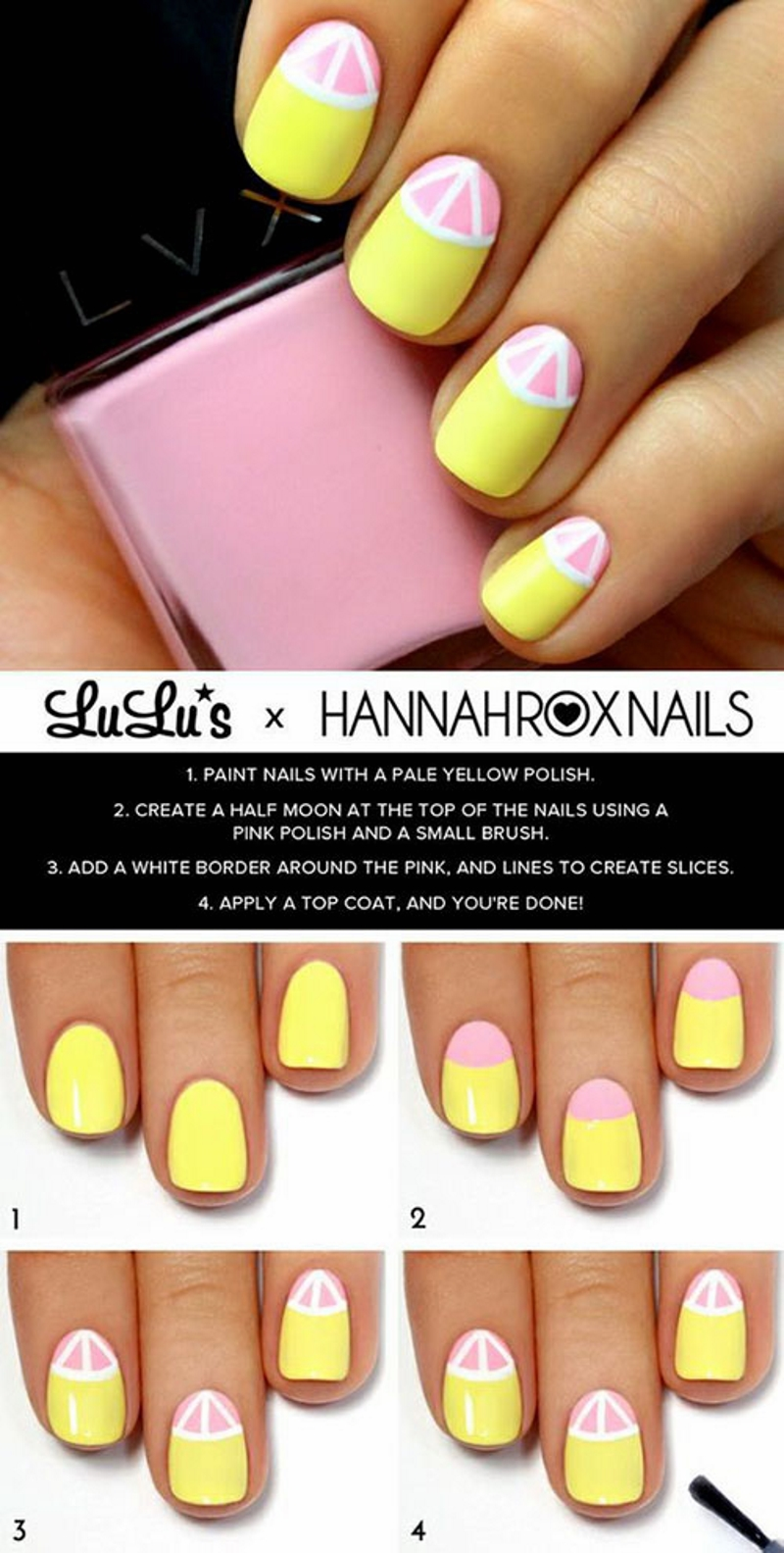 lemon summer nail design