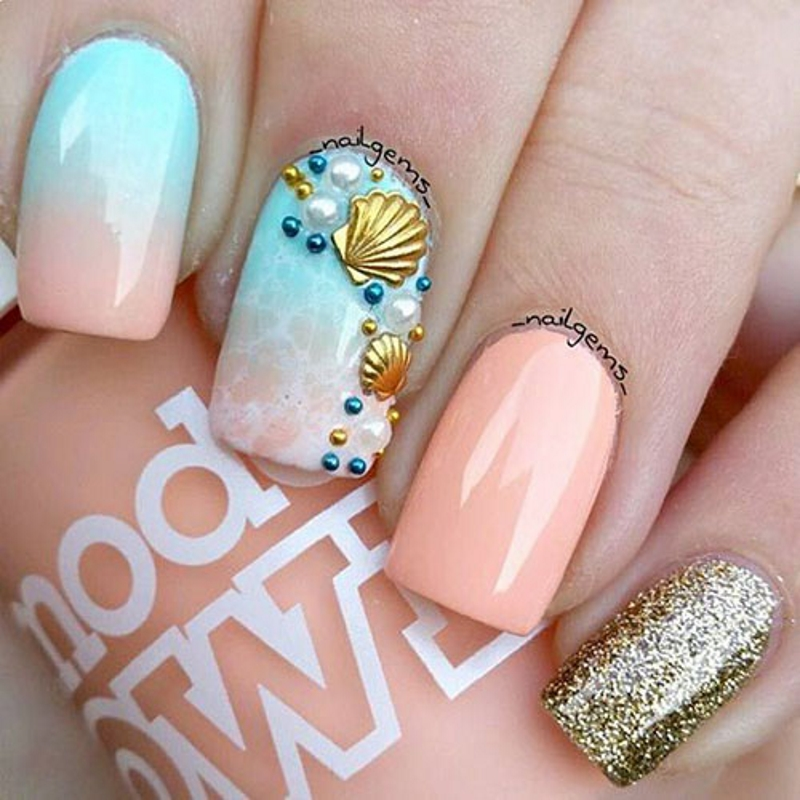 pearl summer nail designs