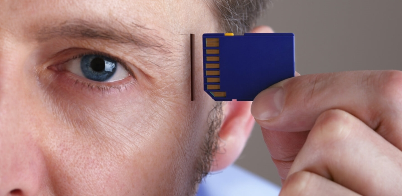 putting memory chipset in the brain
