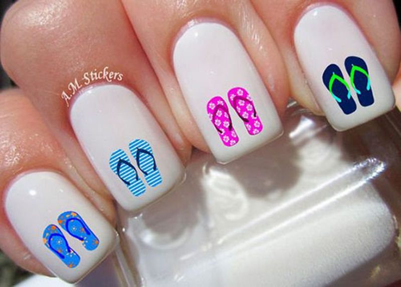 shoe summer nail designs