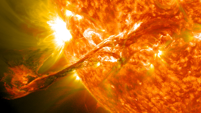 solar flare and storm