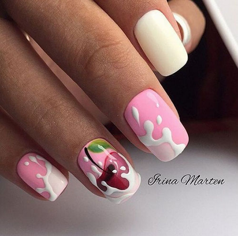 summer finger nail designs