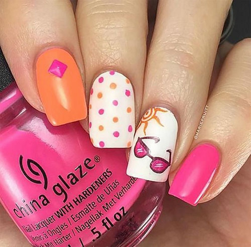 sunglass fingernail design
