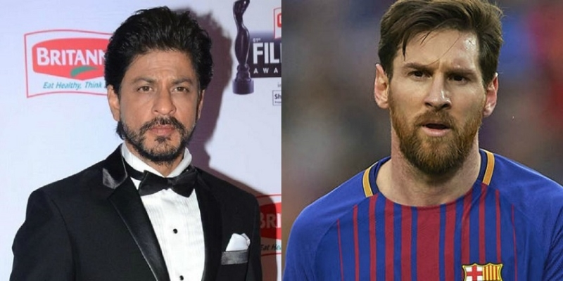 dubai stars messi and shah rukh khan